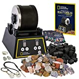 NATIONAL GEOGRAPHIC Professional Rock Tumbler Kit - Complete Rock Tumbler Kit with Durable Tumbler,...
