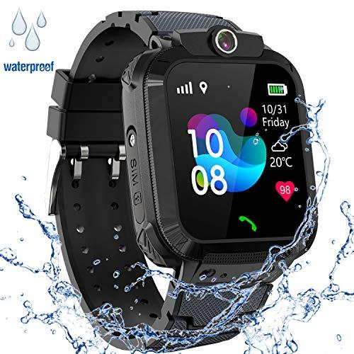 GPS Smartwatch Impermeabile per Ragazzi Ragazze, Orologio Intelligente Telefono con GPS Locator Chat...