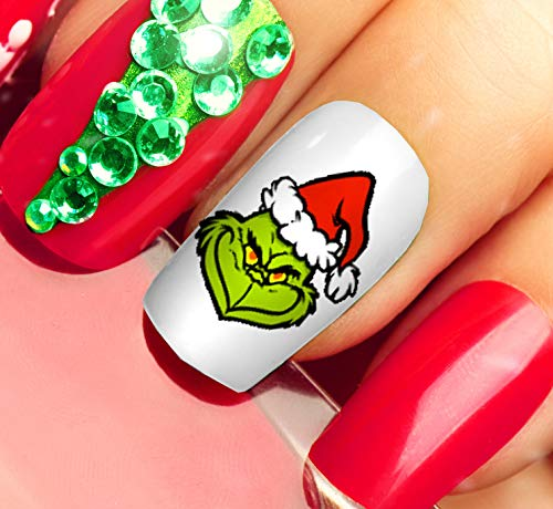 The Grinch Who Stole Christmas Nail Art Waterslide Decals - Salon Quality!