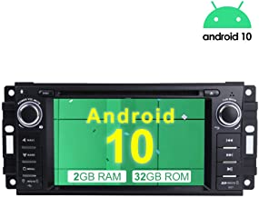 MCWAUTO for Jeep Wrangler JK Dodge Ram Challenger GPS DVD Player Head Unit Android 10.0..