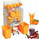 VEVOR 110V Electric Orange Juicer Commercial Squeezer Machine Lemon Automatic Auto Feed Perfect for Drink Bar and Home Supermarkets, 22-30 Per Minute, Plastic Tank+PC Cover