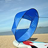 Dyna-Living 42' Durable Downwind Wind Sail Sup Paddle Board Instant Popup for Kayak Boat Sailboat Canoe Foldable Style (Blue)