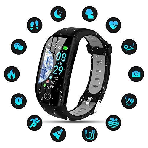 Tipmant Orologio Fitness Uomo Donna Smartwatch Pressione Sanguigna Bracciale Cardiofrequenzimetro da...