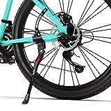 Favoto Bike Kickstand Bicycle Aluminum Alloy Kickstand Adjustable Rear Side Mount Fits 26 28 inch Mountain Adult Hybrids City Beach Cruiser Bike Sturdy Single-side Bike Replacement Accessories
