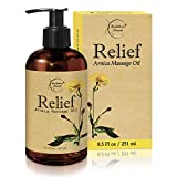 Relief Arnica Massage Oil – Great for Sports & Athletic Therapeutic...
