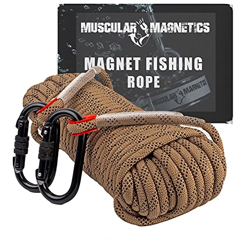 Muscular Magnetics Magnet Fishing Rope - 10mm 65ft Heavy Duty Rope...