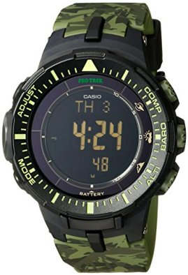 Casio Men's Pro Trek PRG-300CM-3CR Solar-Power Triple-Sensor Watch