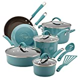 Rachael Ray Cucina Nonstick Cookware Pots and Pans Set, 12 Piece,...