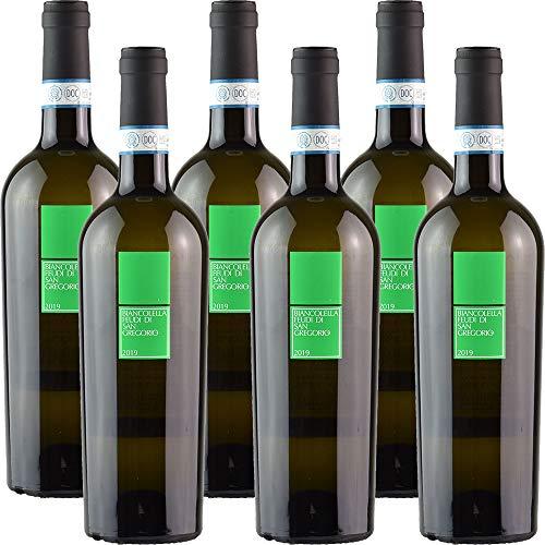 Biancolella d'Ischia | Feudi di San Gregorio | Vino Bianco della Campania | Confezione 6 Bottiglie da 75 Cl | Idea Regalo