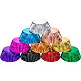 Sumind 10 Colors Standard Paper Baking Cups Foil Cupcake Liners Muffin Case Decoration Cups(400 Pieces)