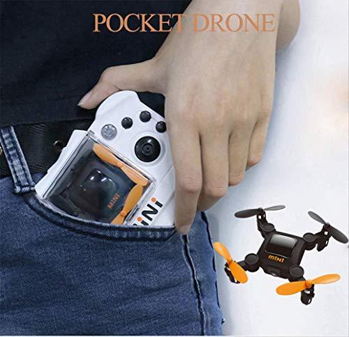 xiaozhu1218 Mini Drone Rc con Fotocamera / Senza Fotocamera Quadcopter Nano S Pocket Case Elicottero per Regalo HC636 No Camera