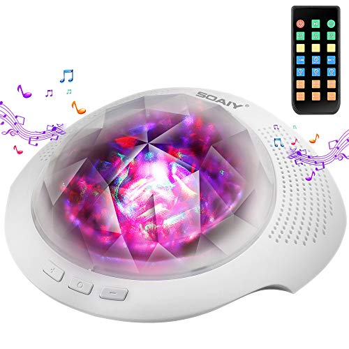 Aurora Night Light with White Noise Machine, 7 Light...