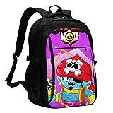 Brpwl Svuprs 16 Inch Mochila para portátil,Large Travel Computer Backpack para Mujeres Hombres con Puerto de Carga USBDurable College Bookbag School Bags