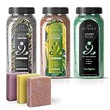 Ensemble de lot thérapeutique biologique Zen Rituals - 3 bouteilles de sels de bain...