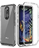 AMENQ Case for LG K40 LMX420, Case for LG Solo LTE L423DL/Harmony 3/K12 Plus/Xpression Plus 2, [Bulit-in Screen Protector] Protective Case with TPU Bumper and Rugged PC Armor Cover