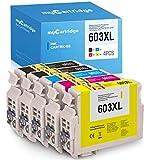 Mycartridge 5 Compatibles Epson 603XL 603 XL Cartuchos de Tinta para Epson Expression Home XP-2100 XP-3100 XP-4100 XP-2105 XP-3105 XP-4105 Workforce WF-2810 WF-2830 WF-2835 WF-2850