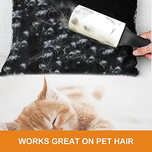 Cusbus Lint Rollers for Pet Hair Extra Sticky, [450 Sheets/5 Refills] Lint Roller with 2 Upgrade Handles, Portable Lint Remover Brush Pet Hair Remover for Dog & Cat Hair Removal, Clothes, Furniture