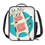 Bolsa Térmica Comida Bolsas de Almuerzo caja porta con Aislamiento Bolso de Mano Dabbing Cow Impermeable Fiambrera Isotermica Aislado Térmico Organizador del Almuerzo