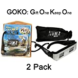 2 Pack Team Colors Sports Binocular Viewer Silver - Telescope Lenses, Zoom in for Sports,Concerts,etc