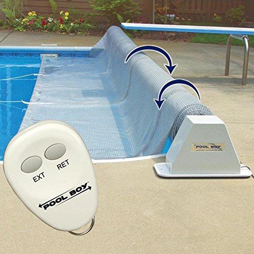 Pool Boy Powered Pool Solar Blanket Reel - Up to 20 Feet Wide
