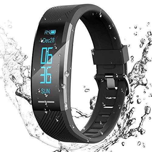 AGPTEK Pulsera de Actividad Inteligente Impermeable IP67, Reloj...