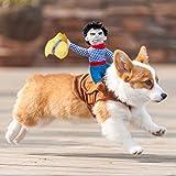 MCdream Disfraz de perro para Halloween, disfraz de cachorro, muñeca de remolque