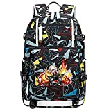 GOYING My Hero Academia Midoriya Izuku/bakugou Katsuki Anime Cosplay Bookbag College Bag Mochila Mochila Escolar con Puerto de Carga USB-D