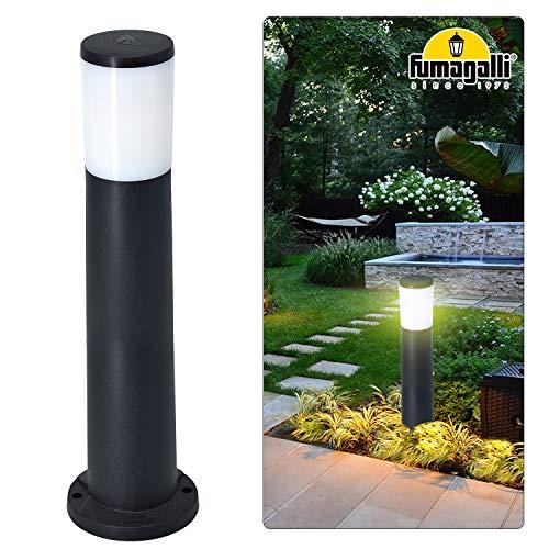 Außen Steh Leuchten, 80cm (H) Garten Geh Weg Stand Lampen Hof Beleuchtung Wegeleuchten IP55, A++, inkl.einer ersetzbaren 12W 1500lm Warmweiß E27 Leuchtmittel