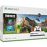 Xbox One S (1TB) Konsole in weiß inkl. Fortnite Full-Game inkl. 2000 V-Bucks; Fortnite In-Game Währung inkl. Fortnite Skin und Spitzhacke (Digitale Items)