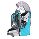 Baby Toddler Hiking Backpack Carrier Camping Child Carriers with Rain Cover Stand Child Kid Sun shade Visor Shield ,Holds up to 50 Pound Ideal for Children Between 6 months-4 years Old (green-blue)