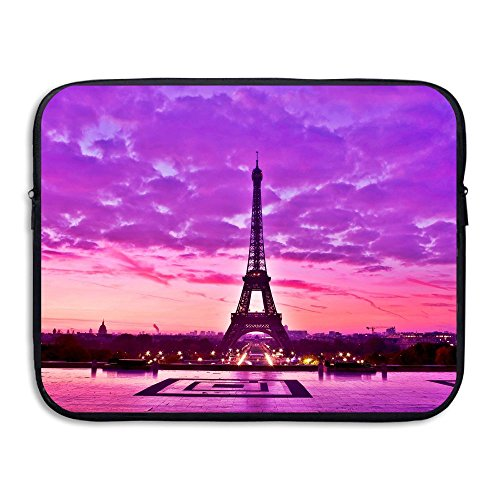 Business Briefcase Laptop Sleeve France Paris Eiffel Tower Case Cover For 13 Inch Macbook Air/Asus/Dell/Lenovo/Hp/Samsung