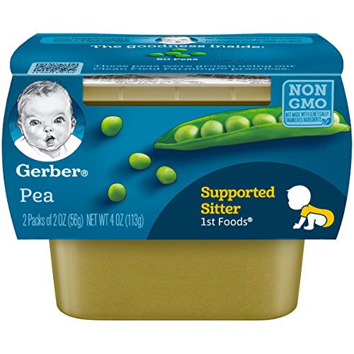 Gerber-1st-Foods-Pea-Pureed-Baby-Food-2-Ounce-Tubs-2-Count-Pack-of-8