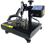 ePhotoInc New T Shirt Transfer Heat Press Machine 12' X 9' Digital Swing Away Heat Press Transfer Machine for T-Shirt ZP9BLK