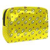 Bolsa de maquillaje portátil con cremallera bolsa de aseo de viaje para mujeres práctico almacenamiento cosmético bolsa escalfada huevo cereza