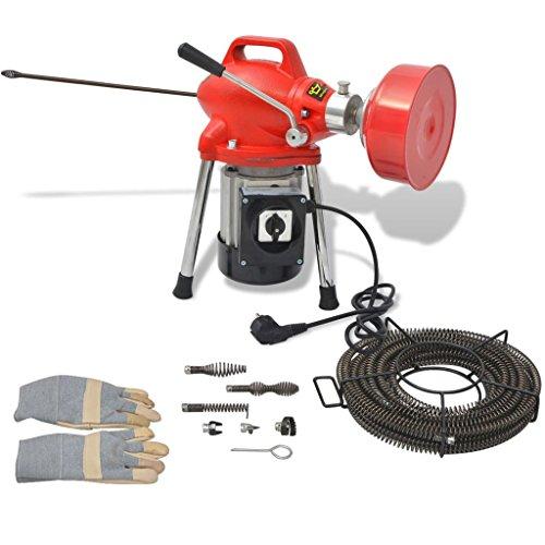 vidaXL Rohrreinigungsmaschine 250 W 12,5mx16mm/4,5mx9,5mm Rohrreinigungsgerät