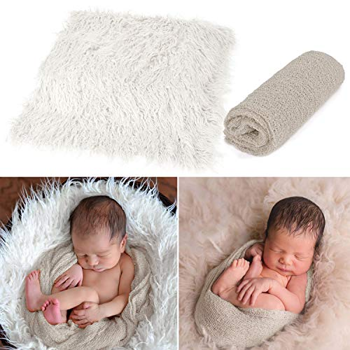 Aniwon 2Pcs Baby Photo Props Long Ripple Wraps DIY Blanket...