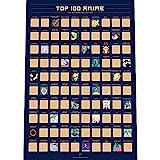 100 Anime Poster da Grattare - I Migliori Anime Giapponesi di Tutti i Tempi (42 x 59.4 cm)
