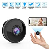 Mini Camera Espion WiFi, Full HD 1080P Caméra Cachée Spy sans Fil avec...