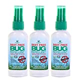 Greenerways Organic Insect Repellent Travel Size, Premium, USDA Organic, DEET-Free, Natural, Mini Repellent Spray, Travel Size Repellent, Mosquito-Repellant, Bug Spray 3-Pack - (3) 2oz - MSRP 23.97