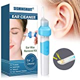 Earwax Removal Kit,Ear Wax Vacuum,Ear Vacuum Cleaner, Easy Earwax Remover Soft Prevent Ear-Pick Clean Tools Set with LED Light
