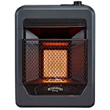 Bluegrass Living B10TNIR-B Natural Gas Vent Free Infrared Space Heater with Base Feet-10,000, T-Stat Control, 10,000 BTU