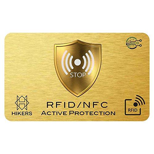 Tarjeta Anti RFID/NFC Protector de Tarjetas de crédito sin Contacto, 1 es Suficiente, di adiós a Las fundias, la Billetera Queda Completamente protegida. Bloqueo de Tarjeta, Protección Billetera