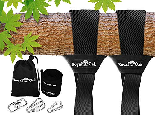 Easy Hang (12FT) Tree Swing Strap X2 - Holds 2200lbs- Heavy Duty...