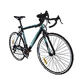 Trinx TEMPO1.0 700C Road Bike Shimano 21 Speed Racing Bicycle (Black/Blue)