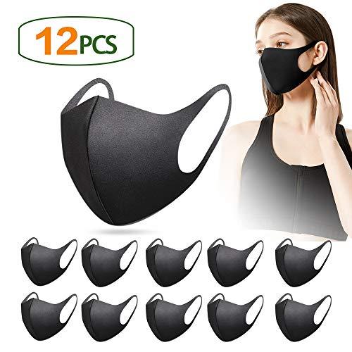 12 pezzi copri bocca riutilizzabili e lavabili