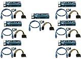 longxi  7Pack  6-Pin PCI-E PCI Express Riser–-1x A 16x PCIe tarjeta de adaptador USB...