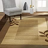 Home Dynamix Royalty Clover Modern Area Rug, Brown Multi, 7'8'x10'4' Rectangle