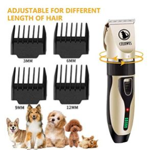 Ceenwes-Cordless-Pet-Grooming-Clippers-Professional-Pet-Hair-Clippers-Detachable-Blade-with-4-Comb-Guides-for-Small-Medium-Large-Dogs-Cats-and-Other-House-Animals-Pet-Grooming-Kit
