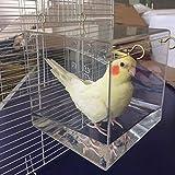 Baignoire à oiseaux spacieuse avec crochets de suspension en...
