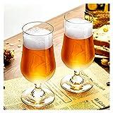 Shengsheng Jarra Cerveza Gafas de Cerveza Conjuntos 340ml Taza de Cerveza Tulip...